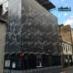 сетка на фасаде Армянск